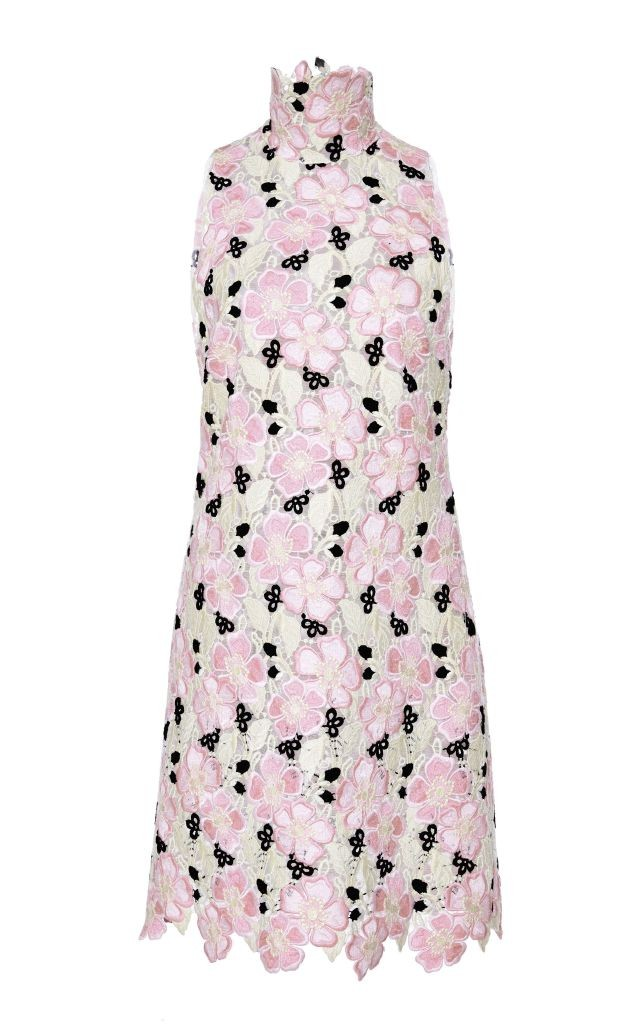 resized_Giambattista Valli Floral Macramé High Neck Shift Dress $3,350_2