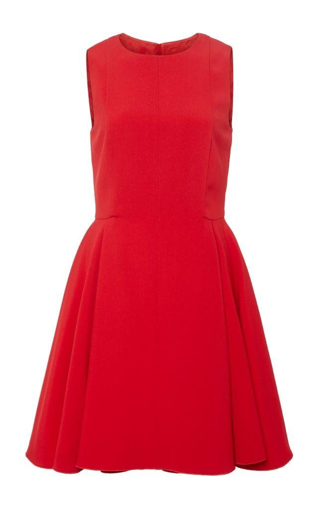 resized_Giambattista Valli Red Flared Sleeveless Dress $2,995_2