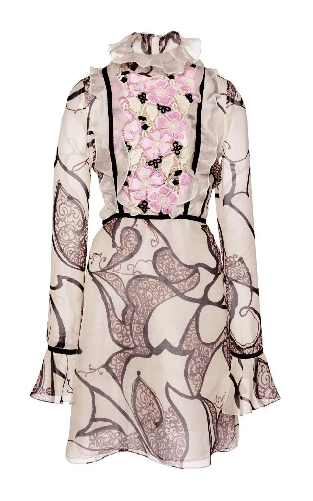 resized_Giambattista Valli Silk Organza Ruffle Macramé Panel Dress $2,650_2