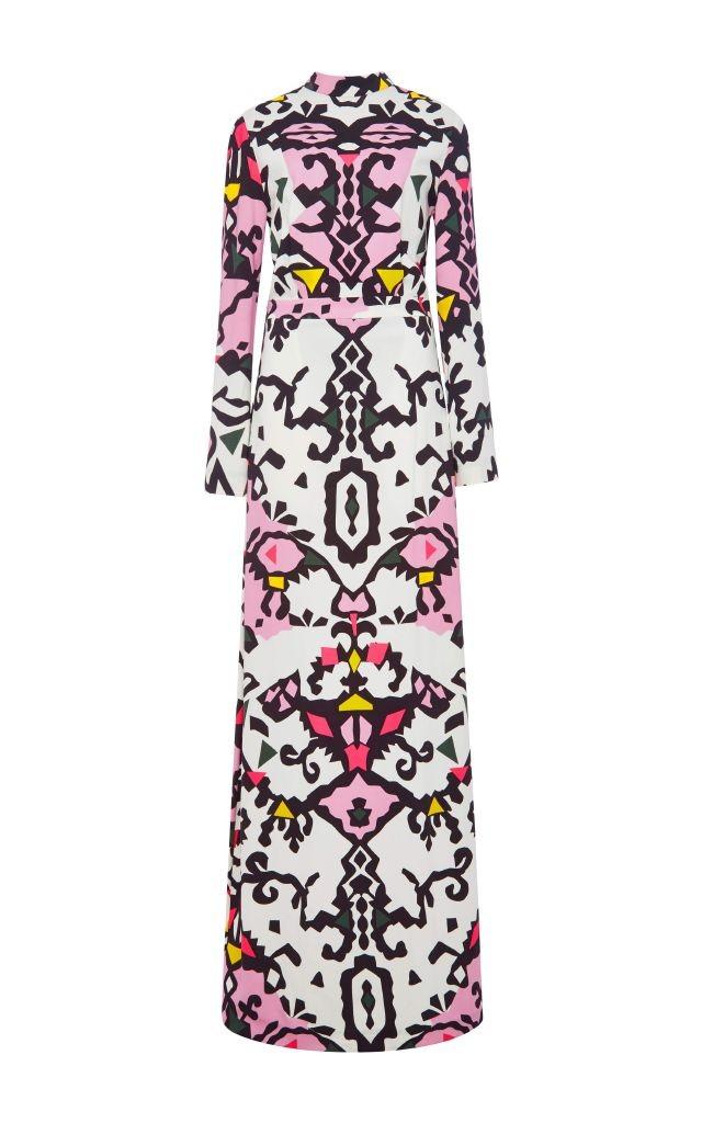 resized_MSGM Long Sleeved Printed Maxi Dress $1,140_2