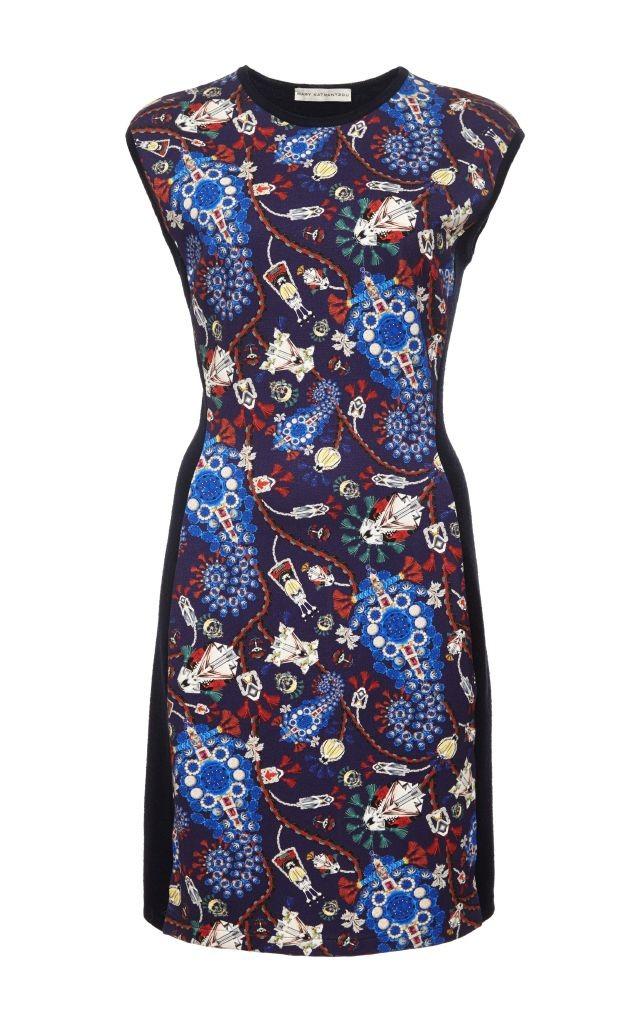 resized_Mary Katrantzou Lanark Printed Wool Cap Sleeve Dress $1,115_2