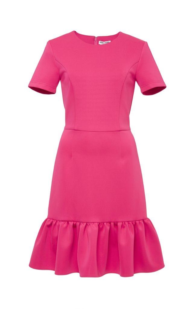 resized_Opening Ceremony Pink Lotus Dropped Ruffle Dress $395_2