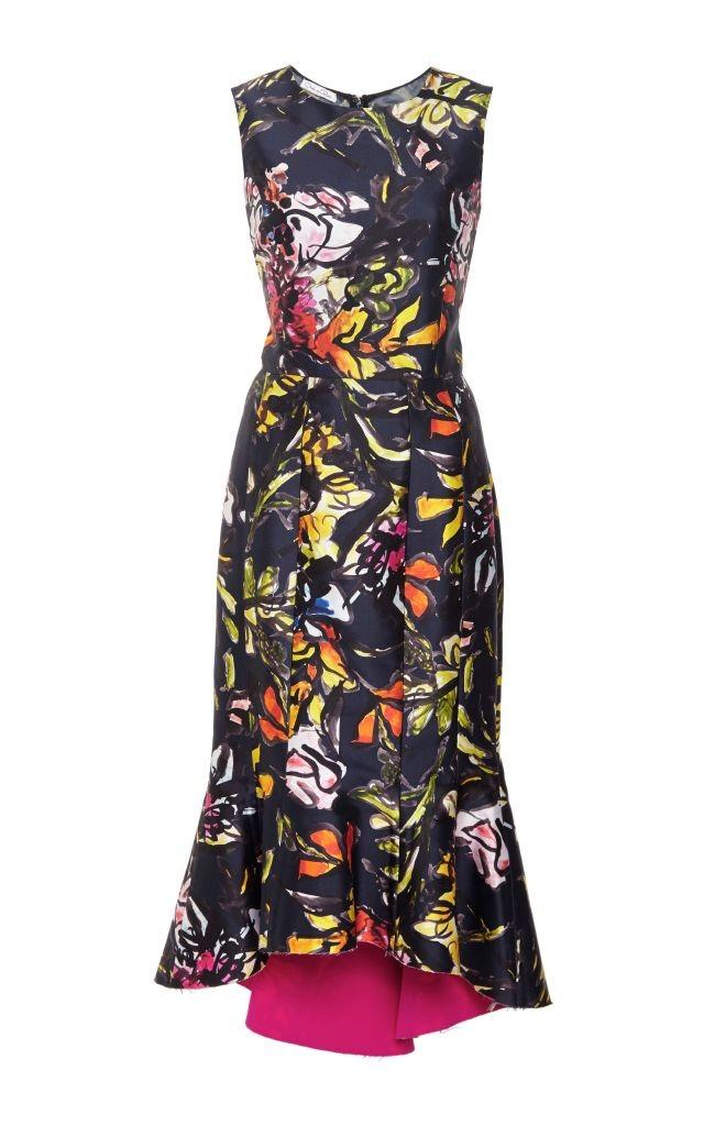 resized_Oscar De La Renta Floral Silk and Cotton Midi Ruffle Dress $2,490_2