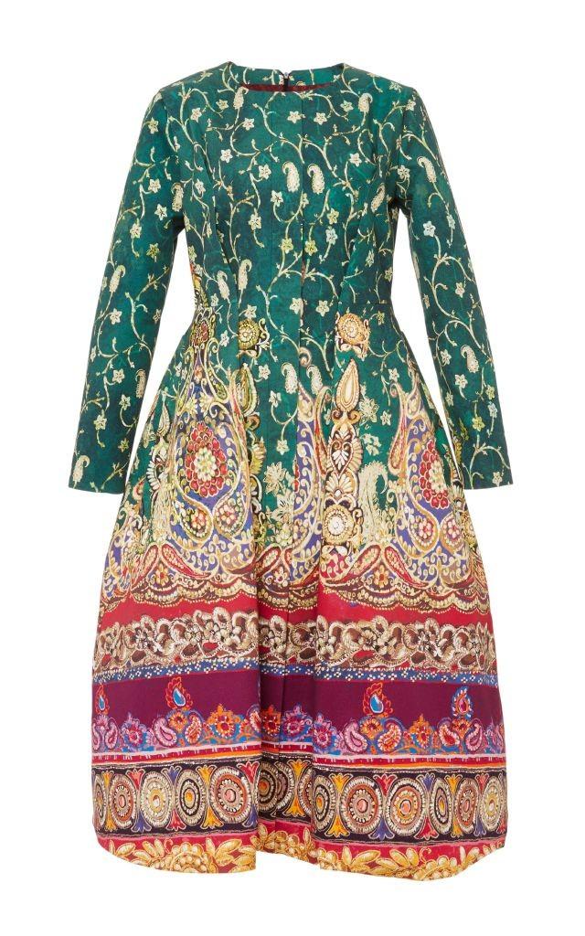 resized_Stella Jean Cotton Printed Long Sleeved Elgin Dress $615_2
