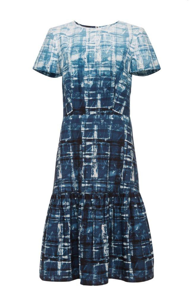 resized_Suno Blue Printed Cotton Ruffled Hem Dress $550_2