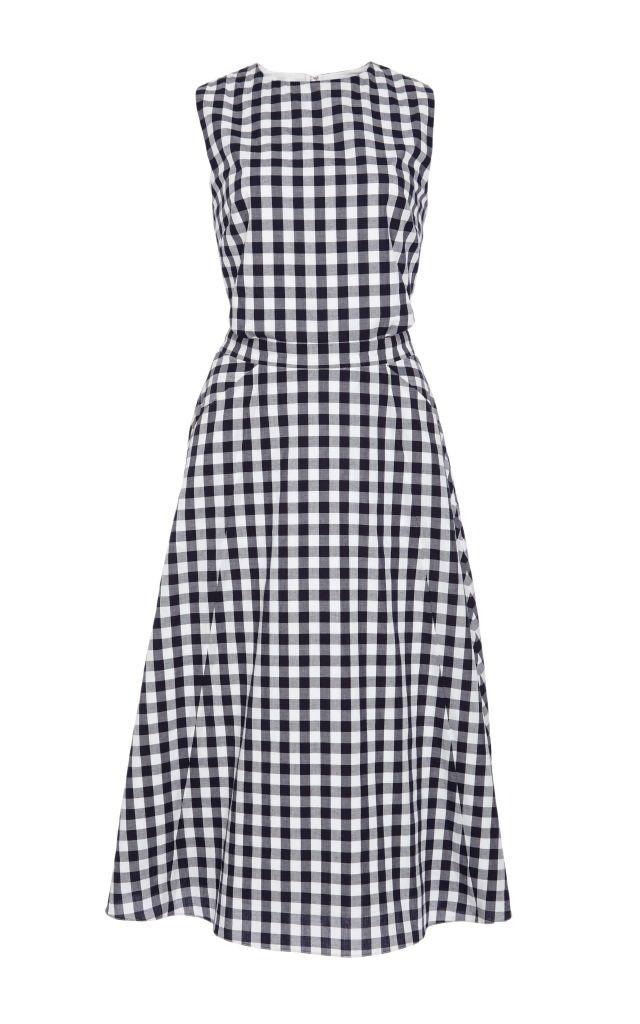 resized_Tanya Taylor Textured Cotton Gingham Shirting Monica Dress $495_2