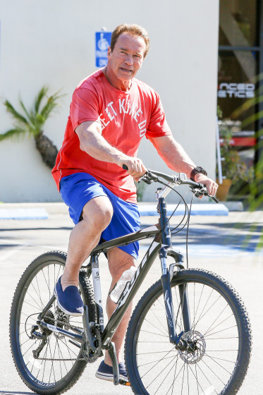 *EXCLUSIVE* Arnold Schwarzenegger keeps a healthy lifestyle
