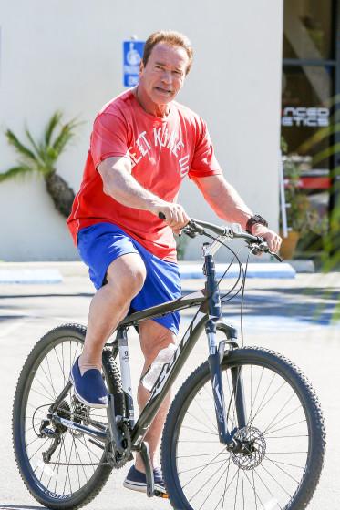 *EXCLUSIVE* Arnold Schwarzenegger keeps a healthy lifestyle