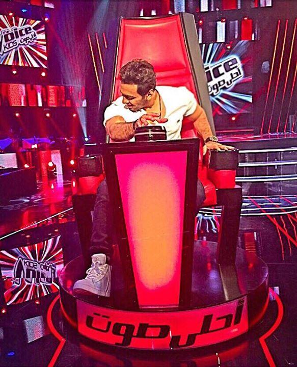 الصورة الأولى لتامر حسني في  The Voice Kids