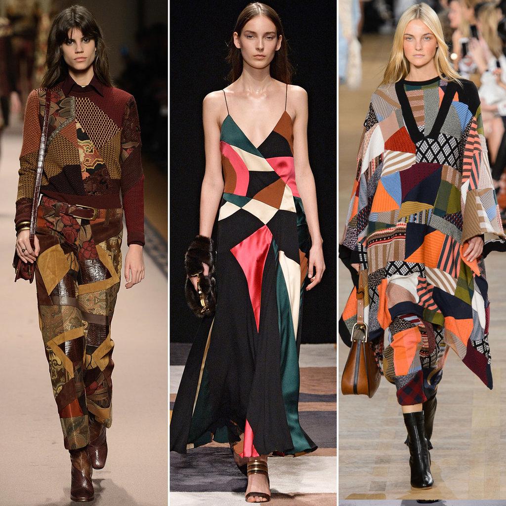 الفساتين والإطلالات التي تحمل رقع ملونة