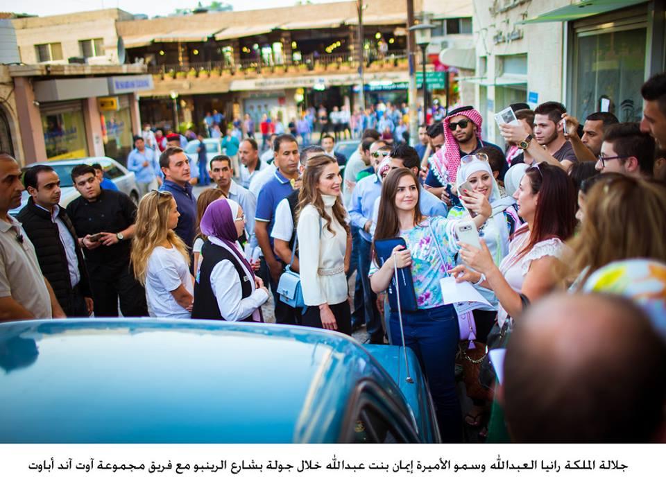 الملكة رانيا وابنتها في شارع الرينبو (7)