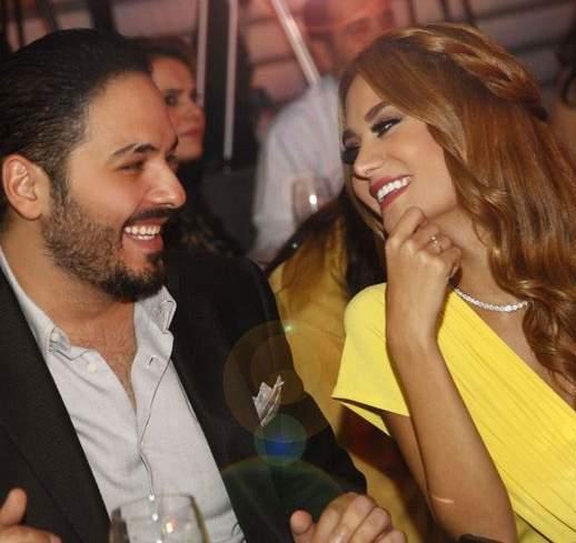 رامي عياش برفقة زوجته