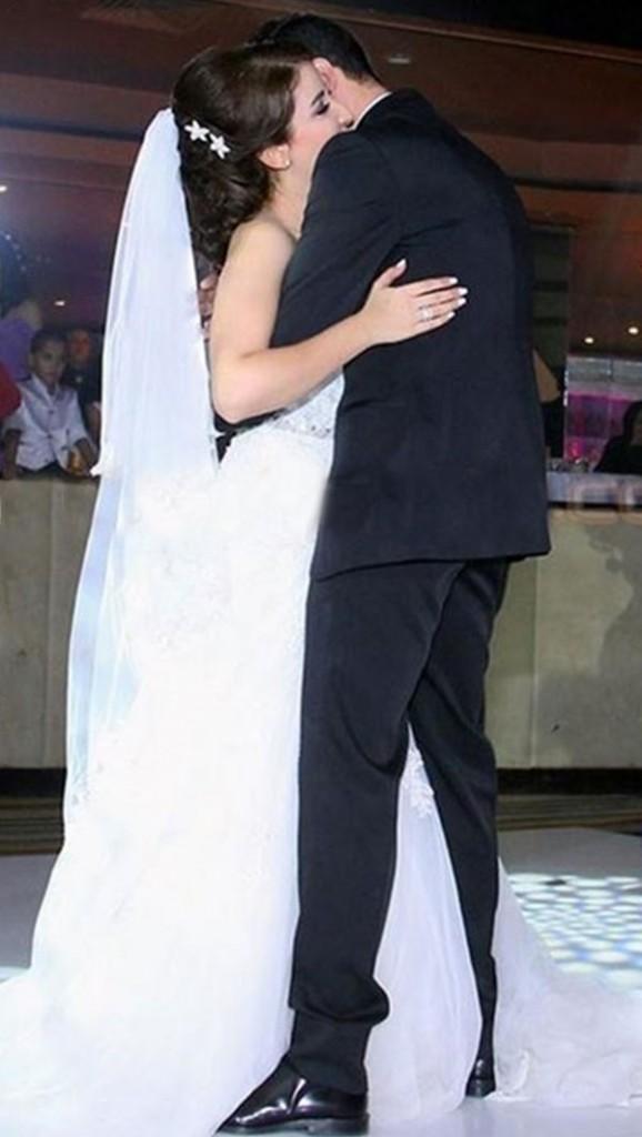 علياء عساف تتألق في حفل زفافها  (1)