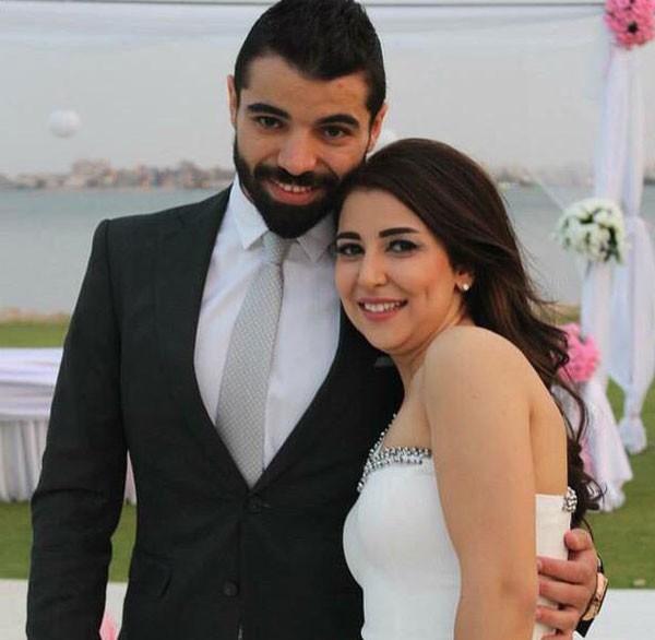 علياء عساف تتألق في حفل زفافها  (6)