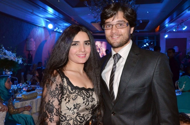 عمر خورشيد وزوجته ياسمين جيلاني