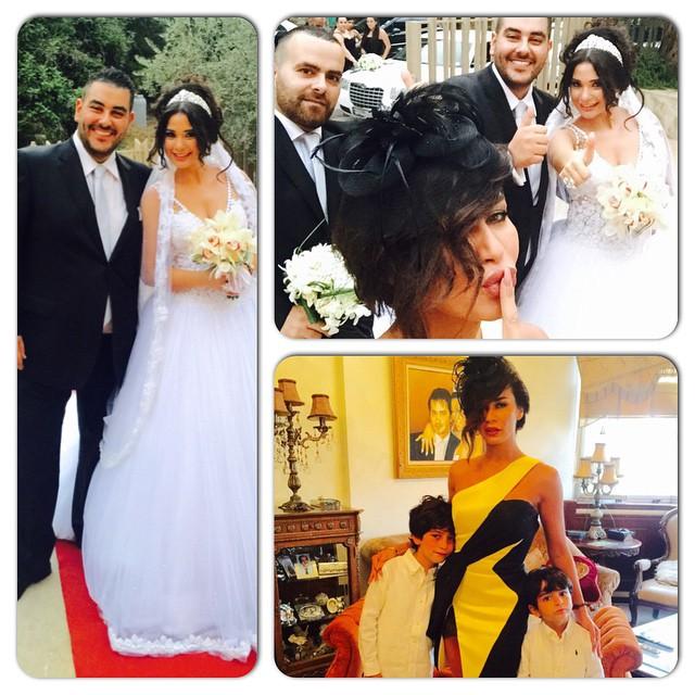 في حفل زفاف من تصاميم سعيد قبيسي