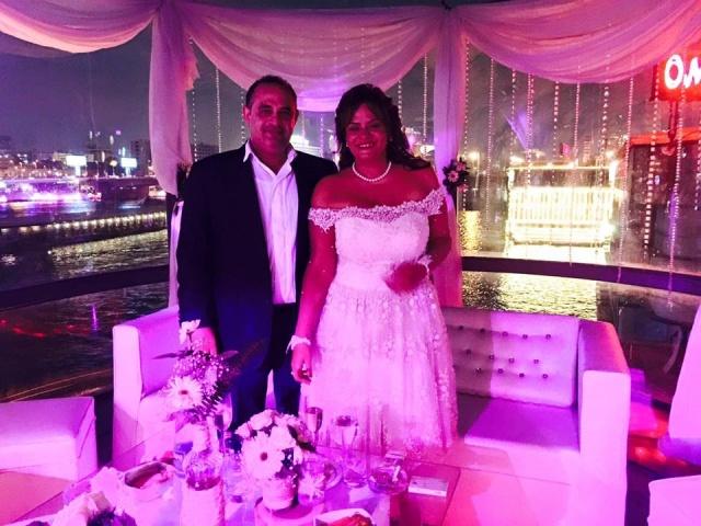 . كاملة أبو ذكري في حفل زفافها (1)