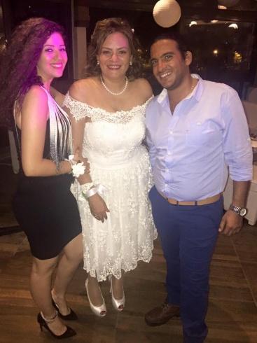 . كاملة أبو ذكري في حفل زفافها (3)