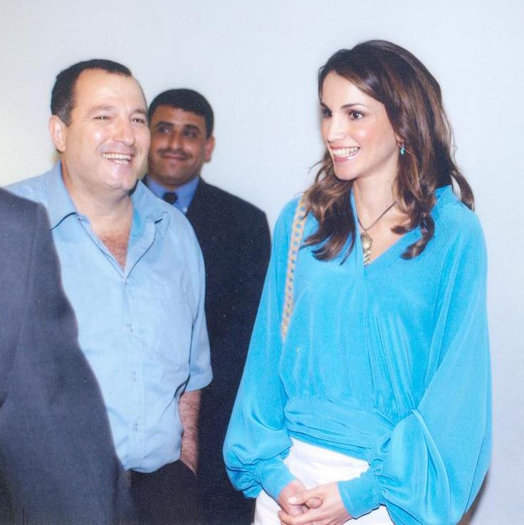مع الملكة رانيا