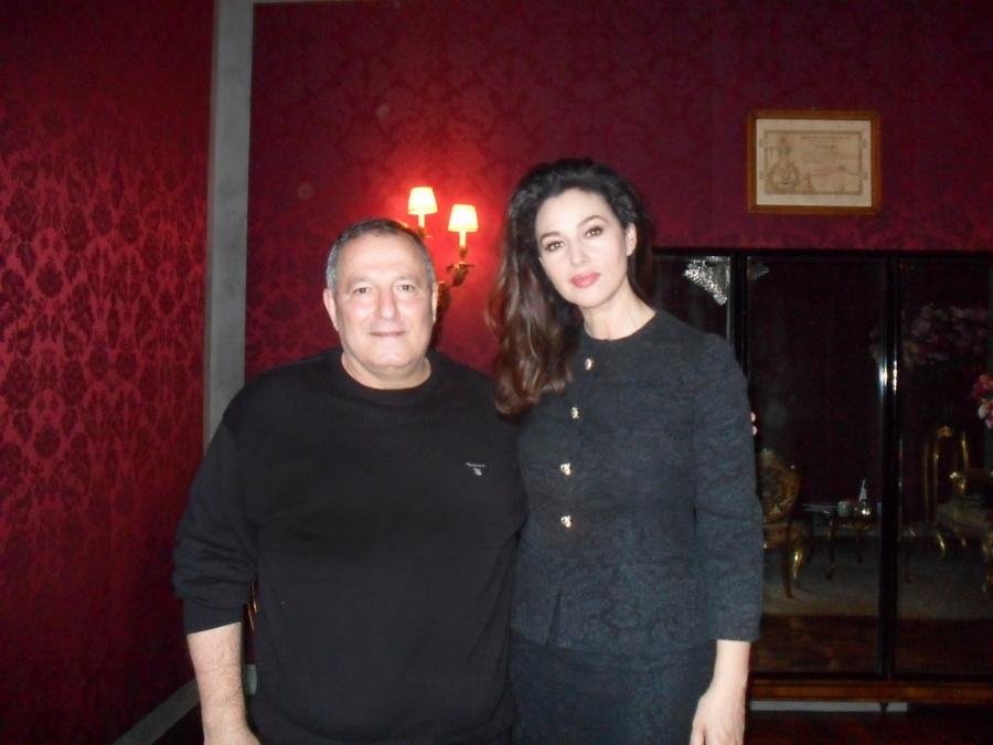 مع النجمة العالمية مونيكا بيللوتشي