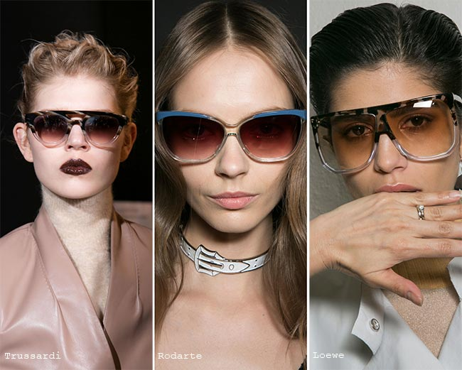 نظارات شمسية ذات إطارات رمادية