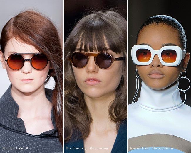 نظارات شمسية ذات عدسات دائرية