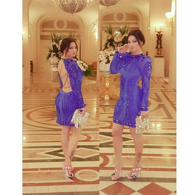 هيفاء وهبي تتألق بفستان من علامة Emilio Pucci