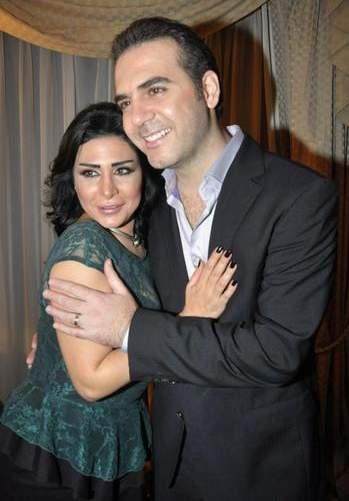 وائل جسار برفقة زوجته