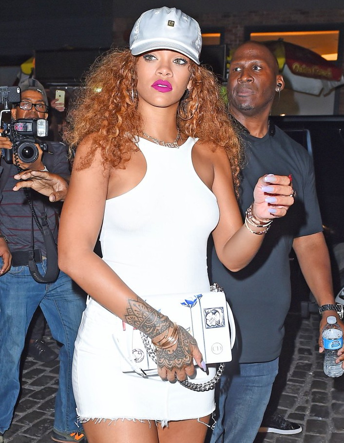 Rihanna and Lewis Hamilton fuel dating rumors as they seen partying at the Griffin night club in NYC