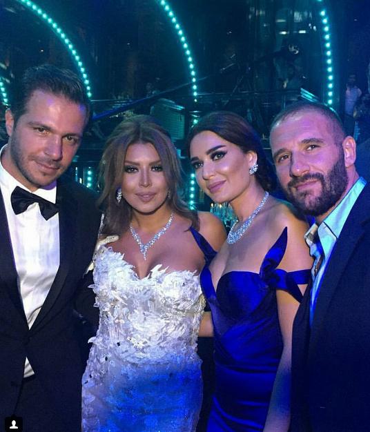 أمل بوشوشة في حفل زفافها