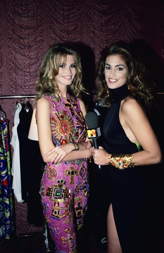Cindy Crawford and Claudia Schiffer
