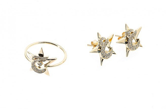 Diamond Star Ring and Earrings. jpg