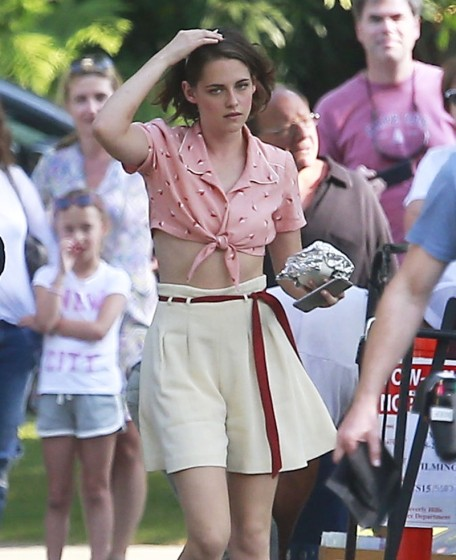 Stars On The Set Of A New Woody Allen Movie