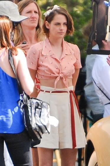 Kristen Stewart gets into character on movie set