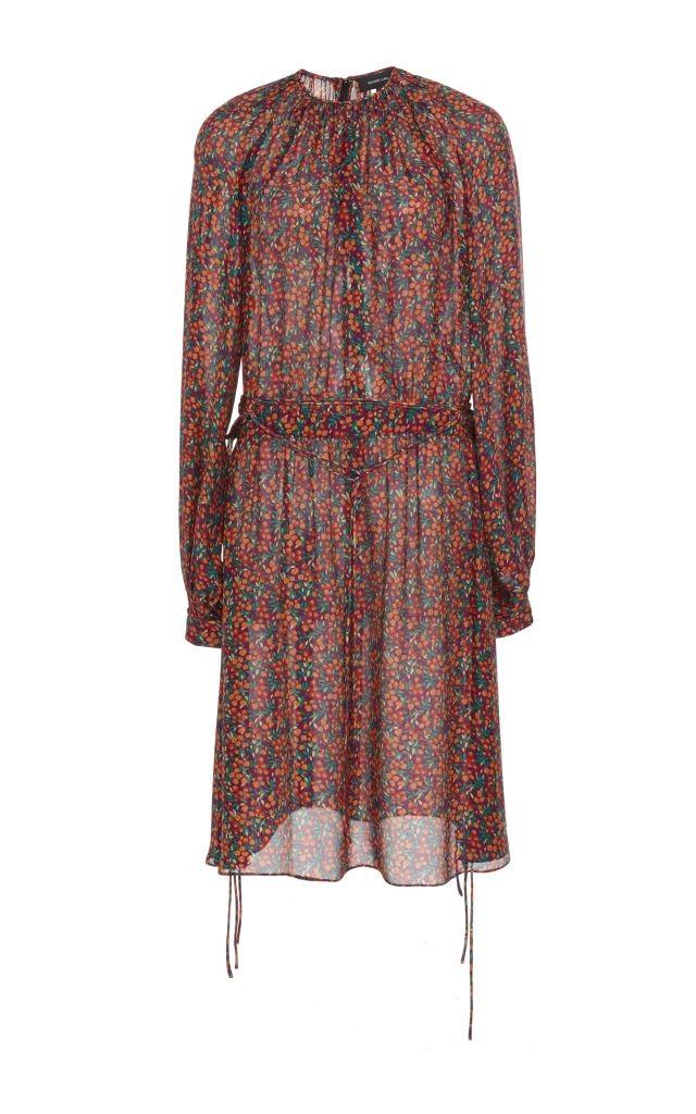 resized_Derek Lam Purple Silk Tie Detail Long Sleeved Dress $1,390