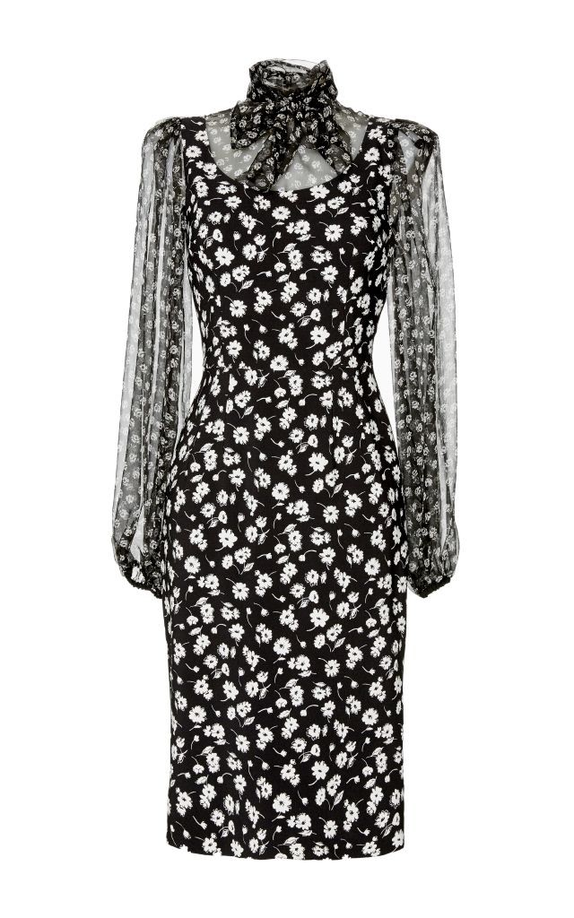 resized_Dolce & Gabbana Silk Tie Neck Printed Dress $2,695