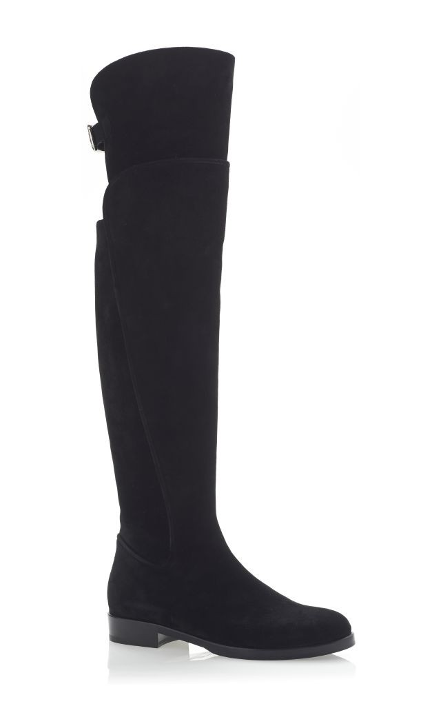 resized_Dolce & Gabbana Suede Over The Knee Back Buckle Boots $1,795