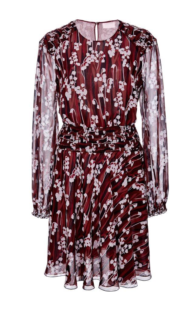 resized_Giamba Burgundy Silk Printed Mini Dress $1,995