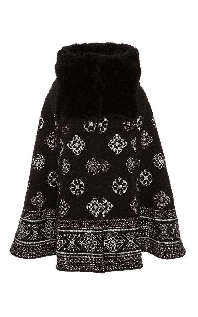 resized_Giamba Faux Fur Hooded Cape $3,420