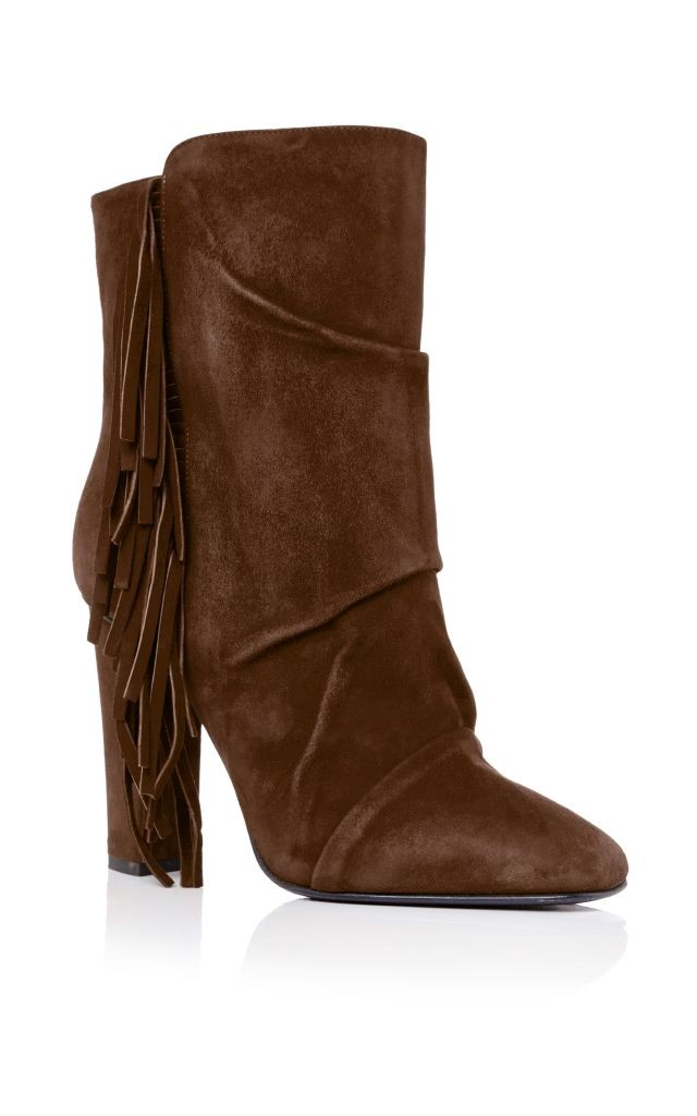 resized_Giuseppe Zanotti Brown Suede Side Fringed Ankle Boots $1,075