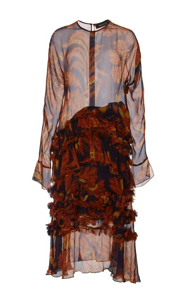 resized_Thakoon Sheer Silk Pixelated Floral Shirtdress $1,750