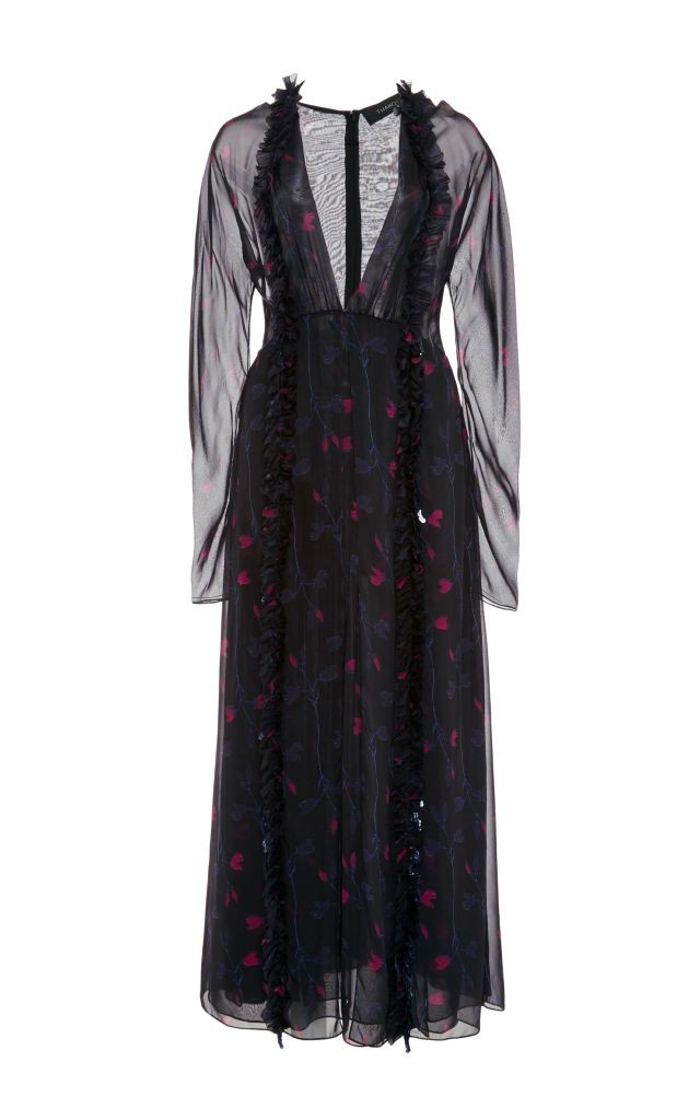 resized_Thakoon Silk Chiffon Long Sleeved Midi Dress $1,950