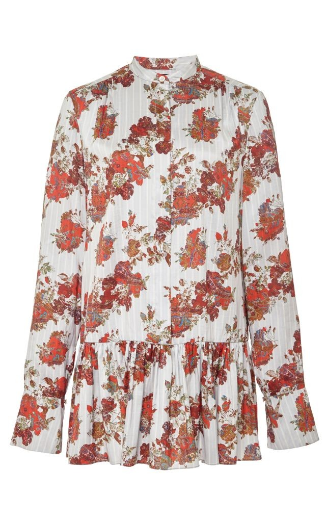 resized_Thakoon Silk Gathered Peplum Longsleeve Blouse $890