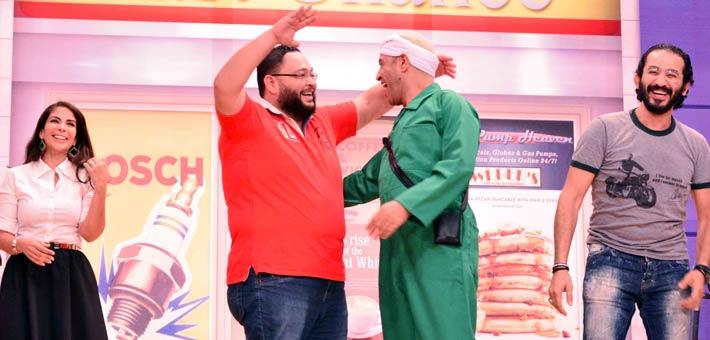 أحمد حلمي وأشرف عبد الباقي وأحمد رزق ومنى زكي