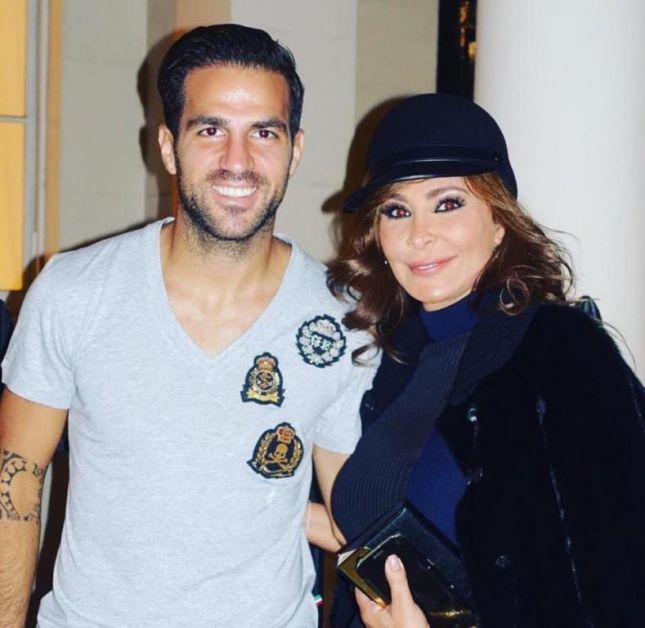 إليسا مع اللاعب الإسباني فابريغاس
