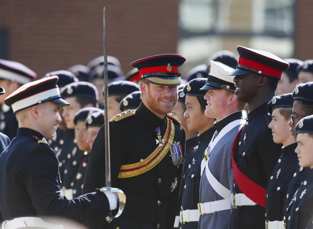 Prince Harry Visits The Duke Of York's Royal Military School