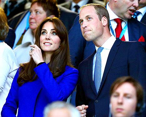 العائلة البريطانية في حفل افتتاح بطولة العالم للركبي  (2)