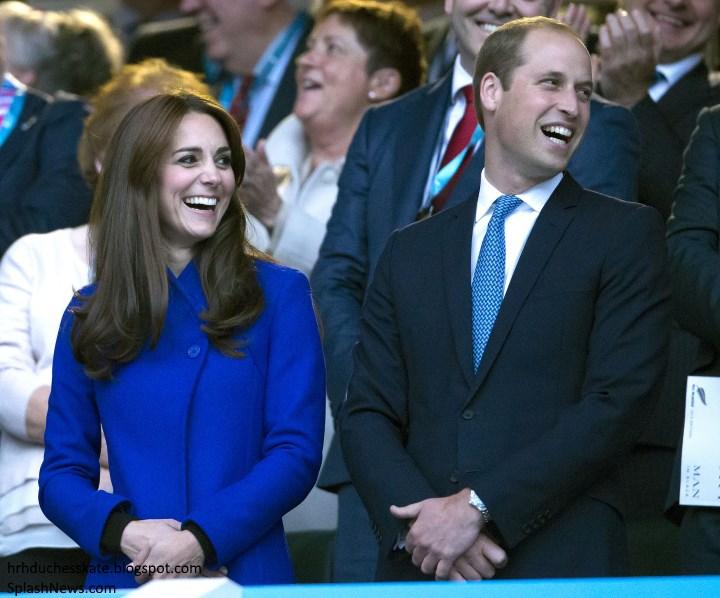 العائلة البريطانية في حفل افتتاح بطولة العالم للركبي  (4)