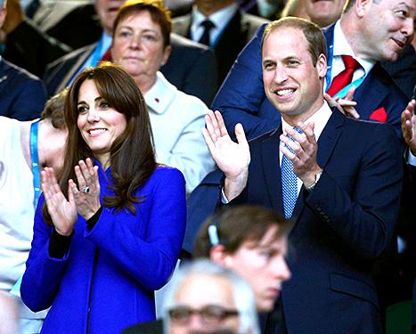 العائلة البريطانية في حفل افتتاح بطولة العالم للركبي  (6)