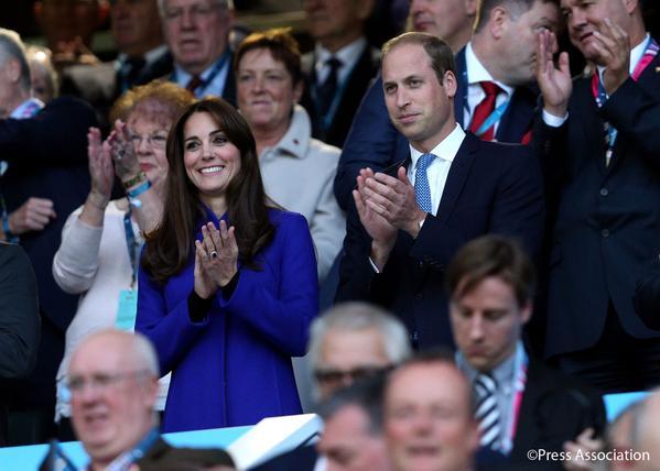 العائلة البريطانية في حفل افتتاح بطولة العالم للركبي  (8)